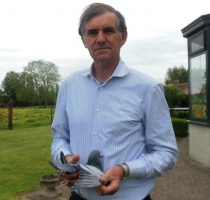 norbert sierens with his national winner